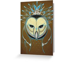 icy barn owl totem Greeting Card