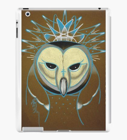 icy barn owl totem iPad Case/Skin