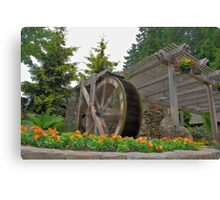 Buchart Garden Water Wheel Canvas Print
