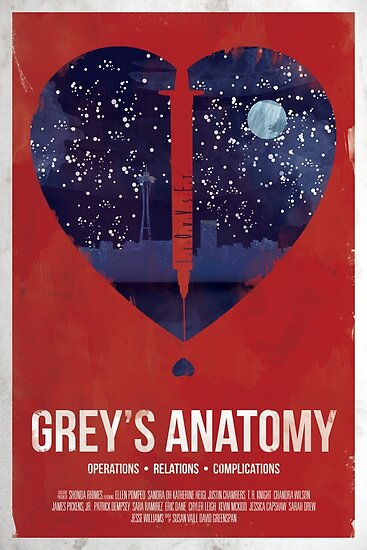 Grey's Anatomy Print by Trever Griswold