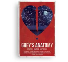 Grey's Anatomy Print Canvas Print