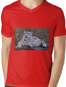 Snow Leopard Dreams Mens V-Neck T-Shirt