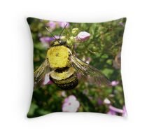 Messy Little Pollinator Throw Pillow