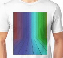 Perspective rainbow planks 2 Unisex T-Shirt