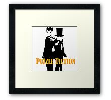 Puzzle Fiction Framed Print