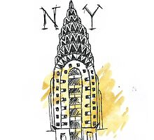 Chrysler Building New York Sketch by OcelotBubbles