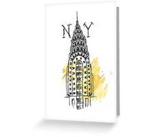 Chrysler Building New York Sketch Greeting Card