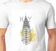 Chrysler Building New York Sketch Unisex T-Shirt