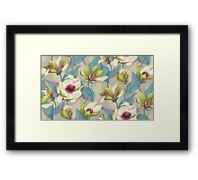 Magnolia Bloom - Twilight Framed Print