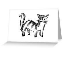 Striped Cat Greeting Card
