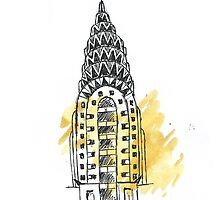 Chrysler Building Pen Sketch by OcelotBubbles