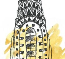 Chrysler Building Pen Sketch Sticker