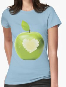 Green apple bite Womens Fitted T-Shirt