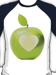 Heart bite green apple 2 T-Shirt