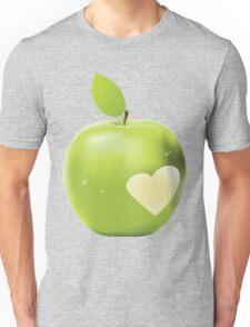 Heart bite green apple Unisex T-Shirt