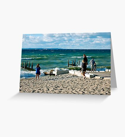 Blustery Greeting Card