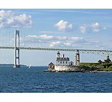 Lighthouse at Rose Island, Newport, Rhode Island | Bay series 2008 Photographic Print