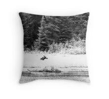 Moose and Beaver Dam - Algonquin Park Throw Pillow