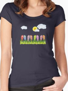 Flip Flops Having Fun in the Sun Women's Fitted Scoop T-Shirt