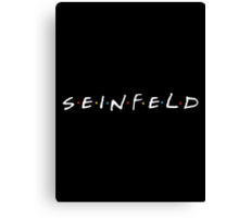 Seinfeld - Friends Logo Style White Canvas Print