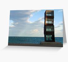 Stacked in Barceloneta Greeting Card