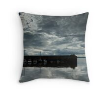 Newhaven Harbour Throw Pillow