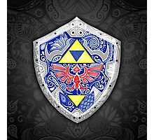 Zedla - Link Shield doodle Photographic Print