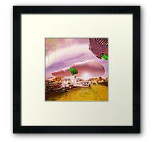 Outerspace Hand Smacks Down the Elusive and Mysterious EyeyOlk Left by the dOvemaster Framed Print