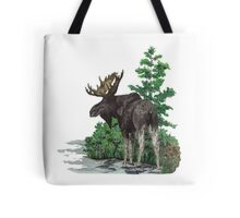 Moose watercolor  Tote Bag