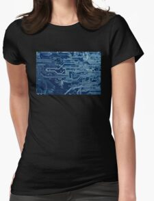Electronic circuit board Womens Fitted T-Shirt