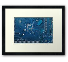 Electronic circuit board Framed Print