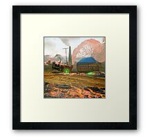 Harvesting Carbide Lava Crop on Gujranwala Five Framed Print