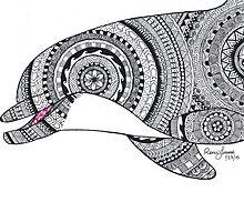 Brinnon Custom Henna Zentangle Drawing by DesignsByNee