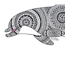 Brinnon Custom Henna Zentangle Drawing Photographic Print
