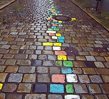 Colored Brick Road by phil decocco