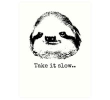 Take it slow.... Art Print