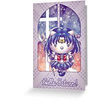 Hello Saturn Greeting Card