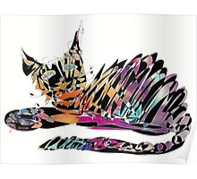 Colored cat James Poster