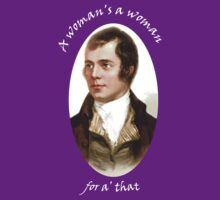 Robert Burns Woman T-Shirt by simpsonvisuals