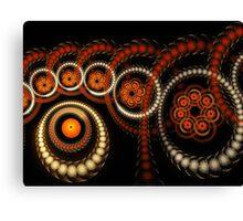 Circular Buttons Canvas Print