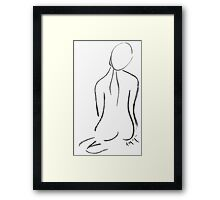 Nude Drawing I Framed Print