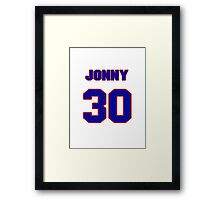 National baseball player Jonny Gomes jersey 30 Framed Print