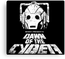 Dawn of the Cyber Canvas Print