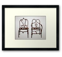 Wire Chairs Framed Print