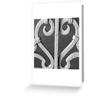 Wrought Iron Heart Greeting Card