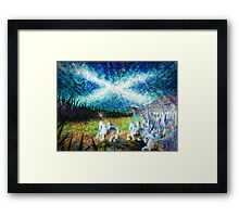 story of the saltire  Framed Print