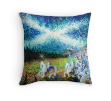 story of the saltire  Throw Pillow