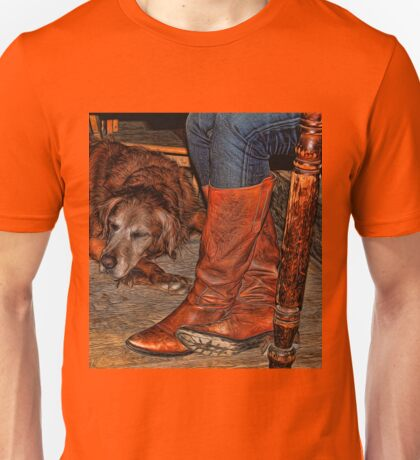 Boots and Buddy Painted Unisex T-Shirt