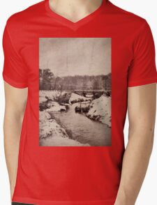 snow scene Mens V-Neck T-Shirt