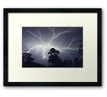 Sydney Lightning Explosion ! Framed Print